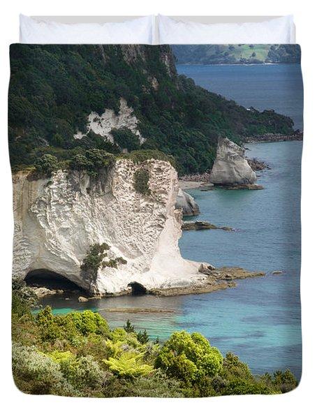 Stingray Cove Duvet Cover by Himani - Printscapes