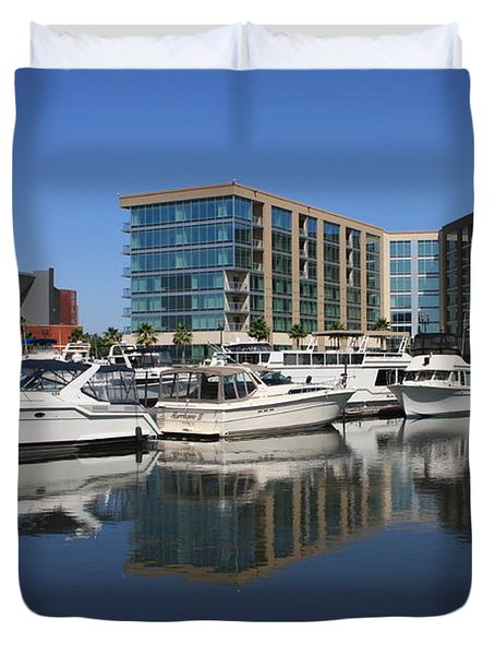 Stockton Waterscape Duvet Cover by Carol Groenen