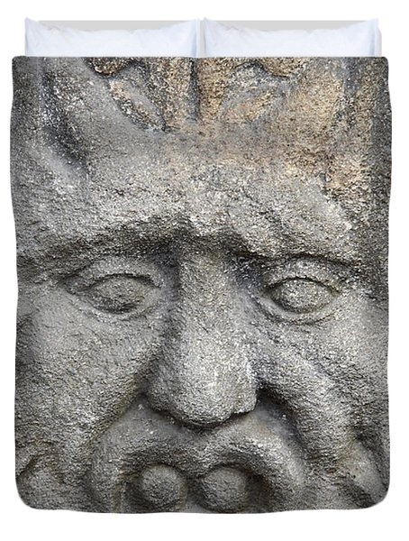 stone face Duvet Cover by Michal Boubin