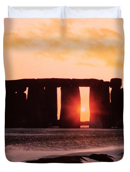 Stonehenge Winter Solstice Duvet Cover by English School