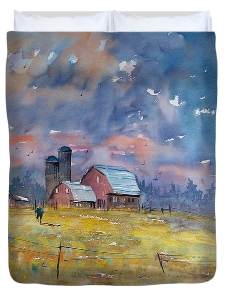 Storm Brewing Duvet Cover by Ryan Radke