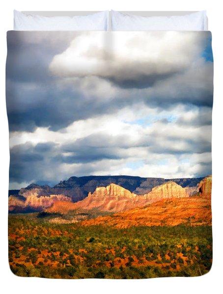 Stormwatch Arizona Duvet Cover by Kurt Van Wagner