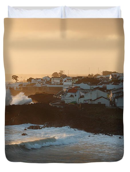 Stormy weather in Azores Duvet Cover by Gaspar Avila