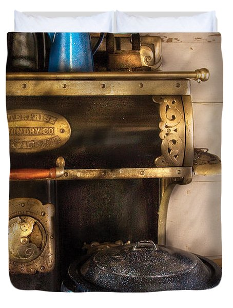 Stove - The Stove Duvet Cover by Mike Savad