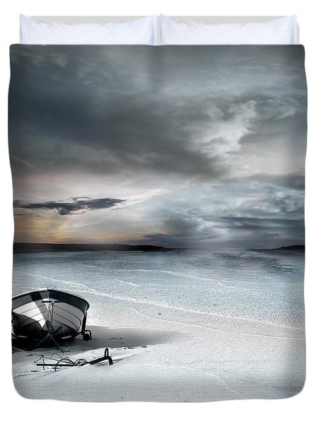 Stranded Duvet Cover by Photodream Art