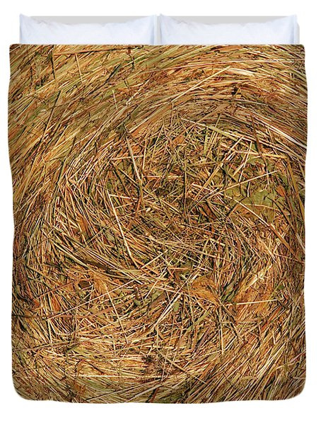 straw Duvet Cover by Michal Boubin