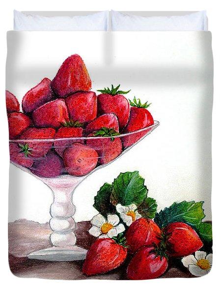 STRAWBERRIES  Duvet Cover by KARIN KELSHALL- BEST