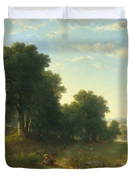 Strawberrying Duvet Cover by Asher Brown Durand