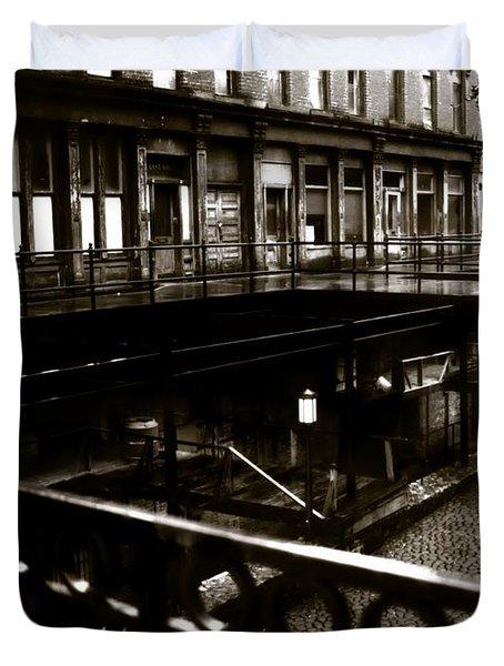 Street Below  Duvet Cover by Marcin and Dawid Witukiewicz