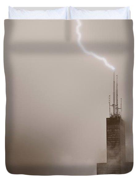 Strike Duvet Cover by Steve Gadomski