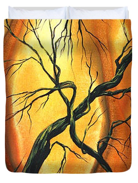 Striving To Be The Best By Madart Duvet Cover by Megan Duncanson