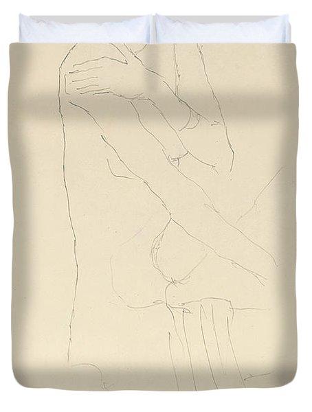 Study For Adele Bloch Bauer II Duvet Cover by Gustav Klimt