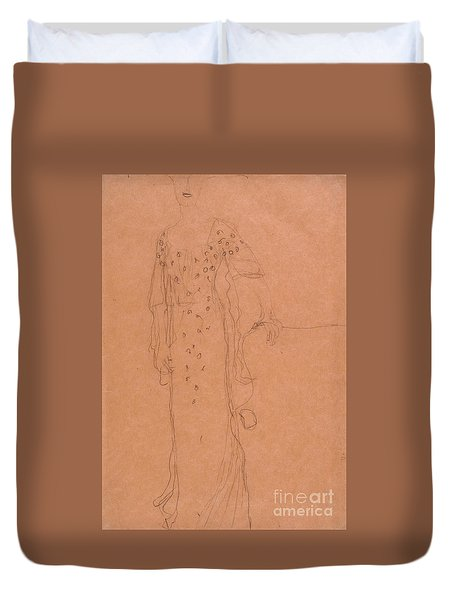 Study For Portrait Of Adele Bloch-bauer I Duvet Cover by Celestial Images