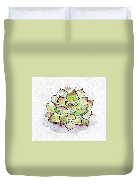 Succulent Duvet Cover by Diane Thornton