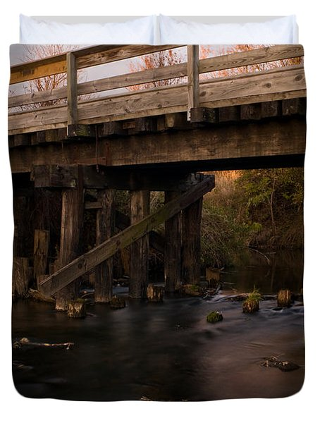 Sugar River Trestle Wisconsin Duvet Cover by Steve Gadomski