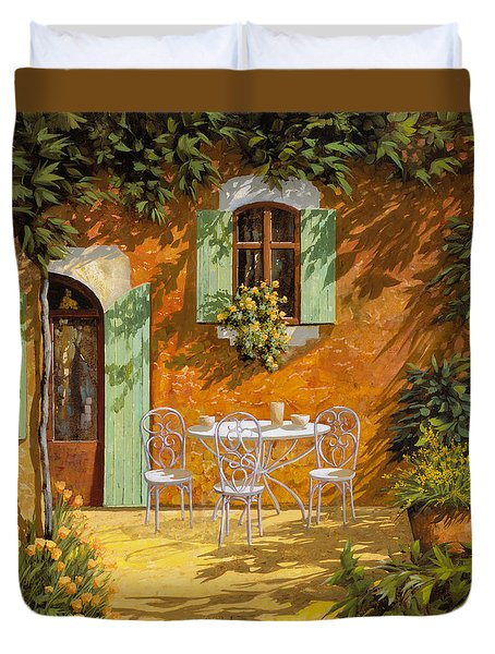 Sul Patio Duvet Cover by Guido Borelli