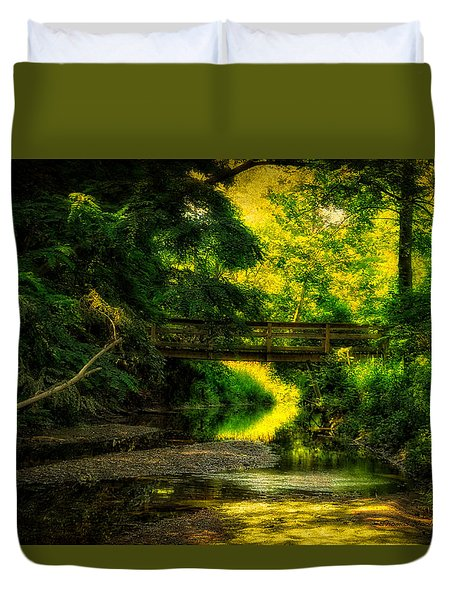 Summer Creek Duvet Cover by Thomas Woolworth