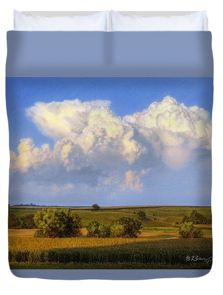 Summer Evening Formations Duvet Cover by Bruce Morrison