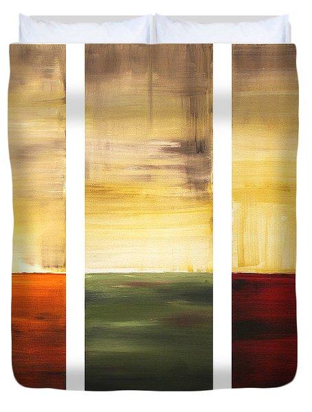 Summer Fields By Madart Duvet Cover by Megan Duncanson