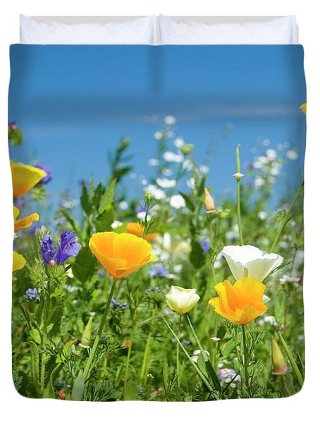 Summer Flowers Duvet Cover by Sophie De Roumanie
