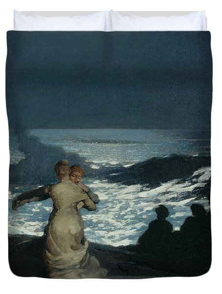 Summer Night Duvet Cover by Winslow Homer