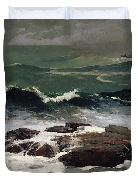 Summer Squall Duvet Cover by Winslow Homer