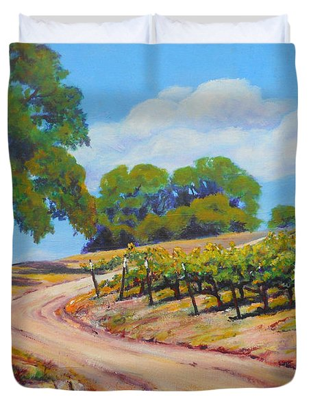 Summer Walk Duvet Cover by Margaret  Plumb