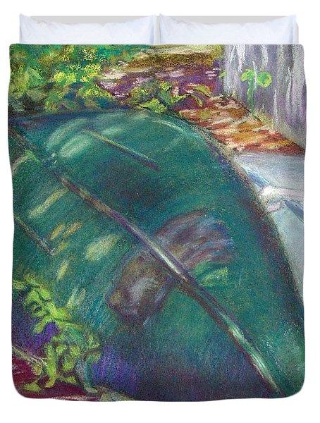 Summerime Overturned Duvet Cover by Katherine  Berlin