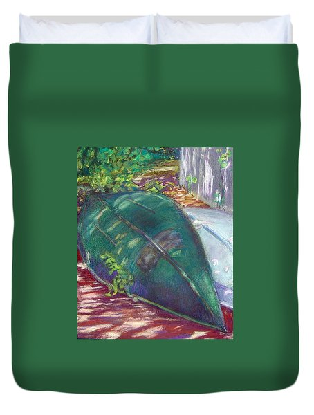 Summerime Overturned Duvet Cover by Katherine  Berlin