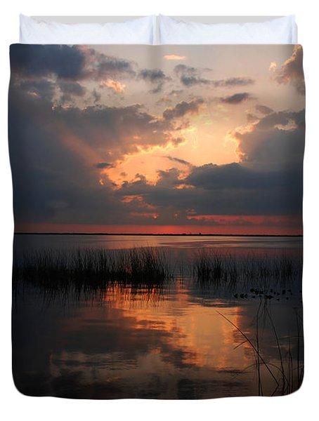 Sun behind the clouds Duvet Cover by Susanne Van Hulst