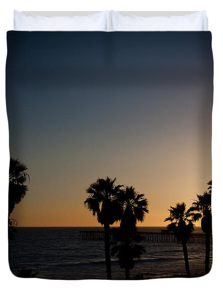 sun going down in california Duvet Cover by Ralf Kaiser