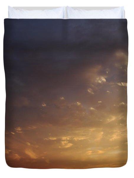 Sun Settles on Connecticut Duvet Cover by Karol  Livote