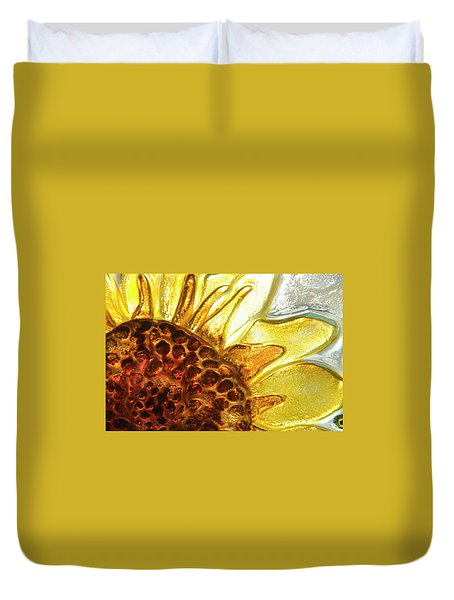 Sunburst Sunflower Duvet Cover by Jerry McElroy