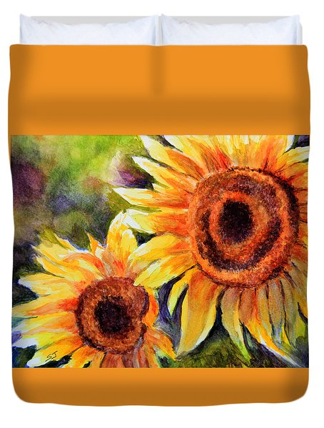 Sunflowers 2 Duvet Cover by Susan Jenkins