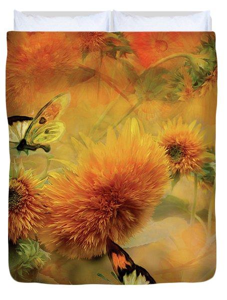 Sunflowers Duvet Cover by Carol Cavalaris