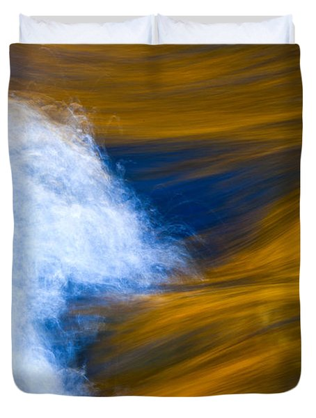 Sunlight On Flowing River Duvet Cover by Bill Brennan - Printscapes