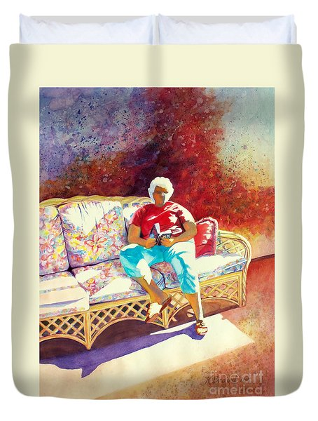 Sunny Retreat 3 Duvet Cover by Kathy Braud
