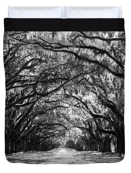 Sunny Southern Day - Black And White Duvet Cover by Carol Groenen