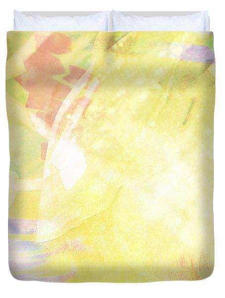 Sunny Tropics Duvet Cover by Maria Eames