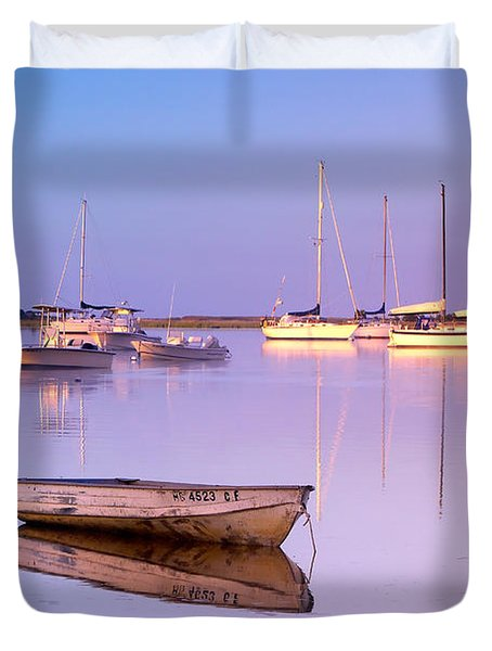 Sunrise At West Bay Osterville Cape Cod Duvet Cover by Matt Suess