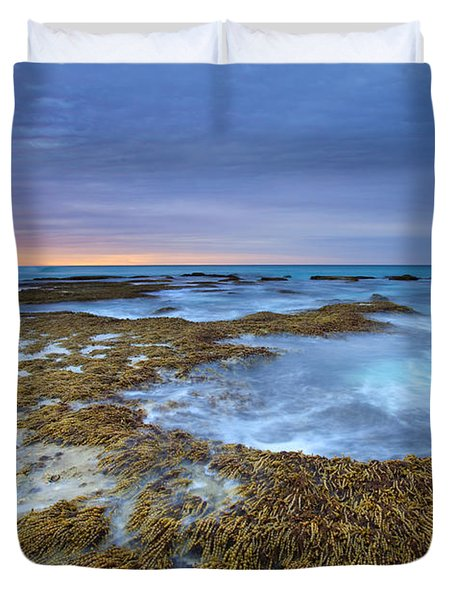 Sunrise Beneath the Storm Duvet Cover by Mike  Dawson