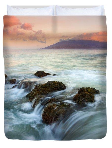 Sunrise Drain Duvet Cover by Mike  Dawson