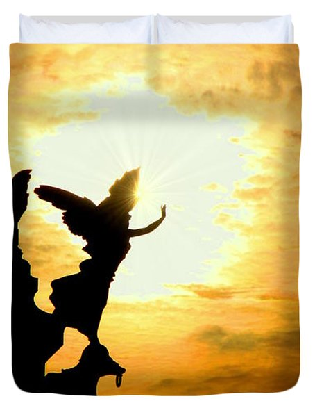 Sunset Angel Duvet Cover by Valentino Visentini