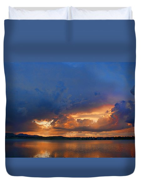 Sunset Blues Duvet Cover by James BO  Insogna