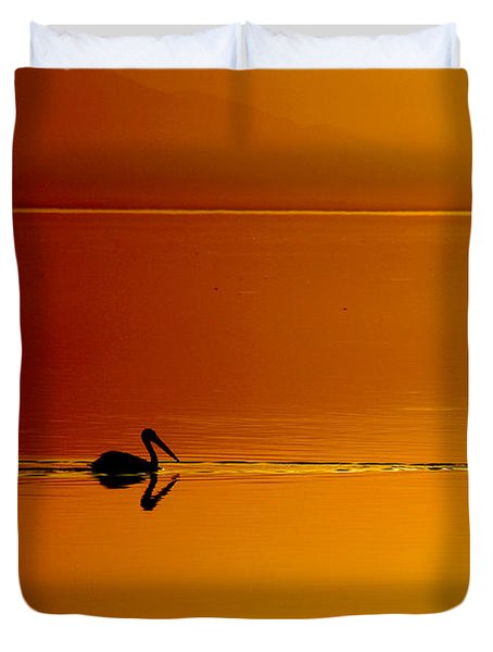 Sunset Cruising Duvet Cover by Laurie Search