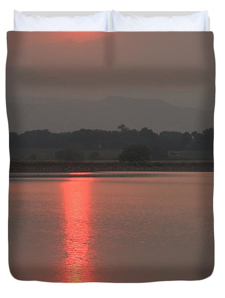 Sunset Fire Duvet Cover by James BO  Insogna