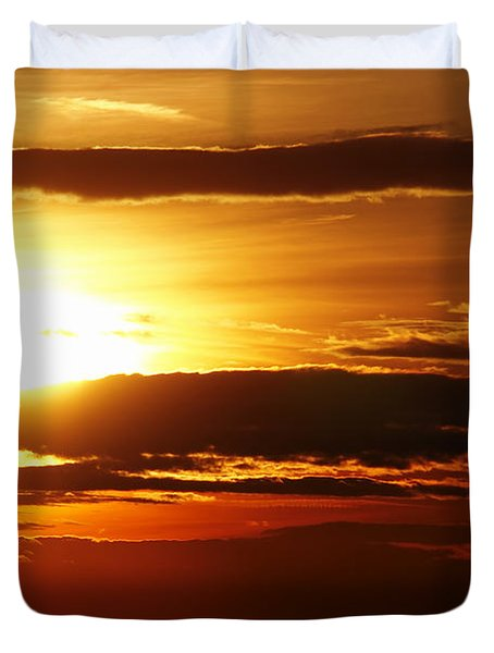 Sunset Duvet Cover by Michal Boubin