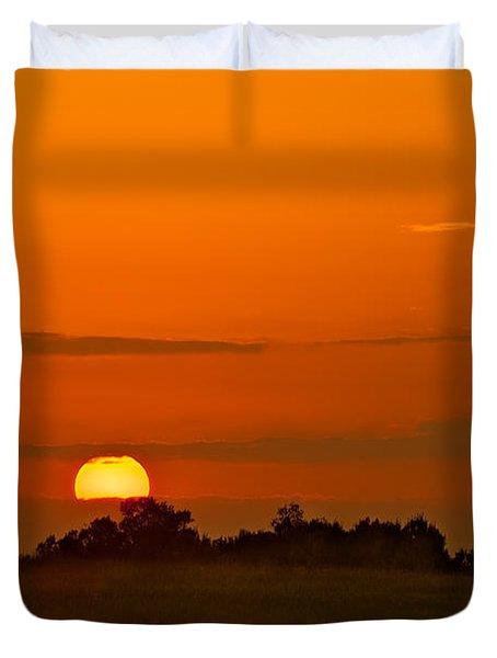 Sunset Over Horicon Marsh Duvet Cover by Steve Gadomski