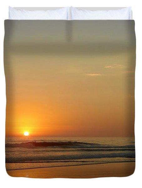 Sunset over La Jolla Shores Duvet Cover by Christine Till