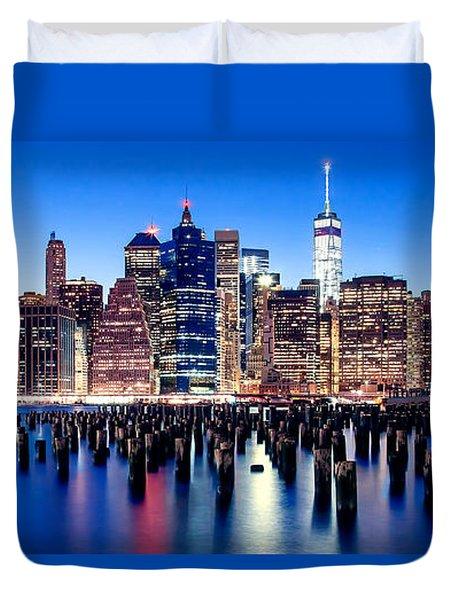 Magic Manhattan Duvet Cover by Az Jackson